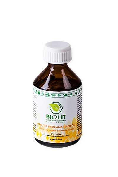 Olej łopianowy z witaminą A i E - Biolit - obraz