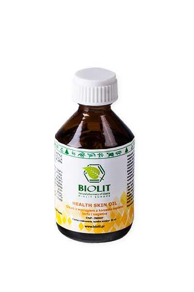 Olej łopianowy z wyciągiem z torfu i nagietkiem - Biolit -  Kosmetyki,  Oleje,  Anty aging,  Dla biznesu,  Dla seniorów