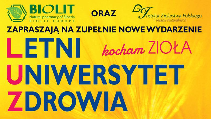 LUZ - Targi Letni Uniwersytet Zdrowia / 15-16.08.2020 - Biolit