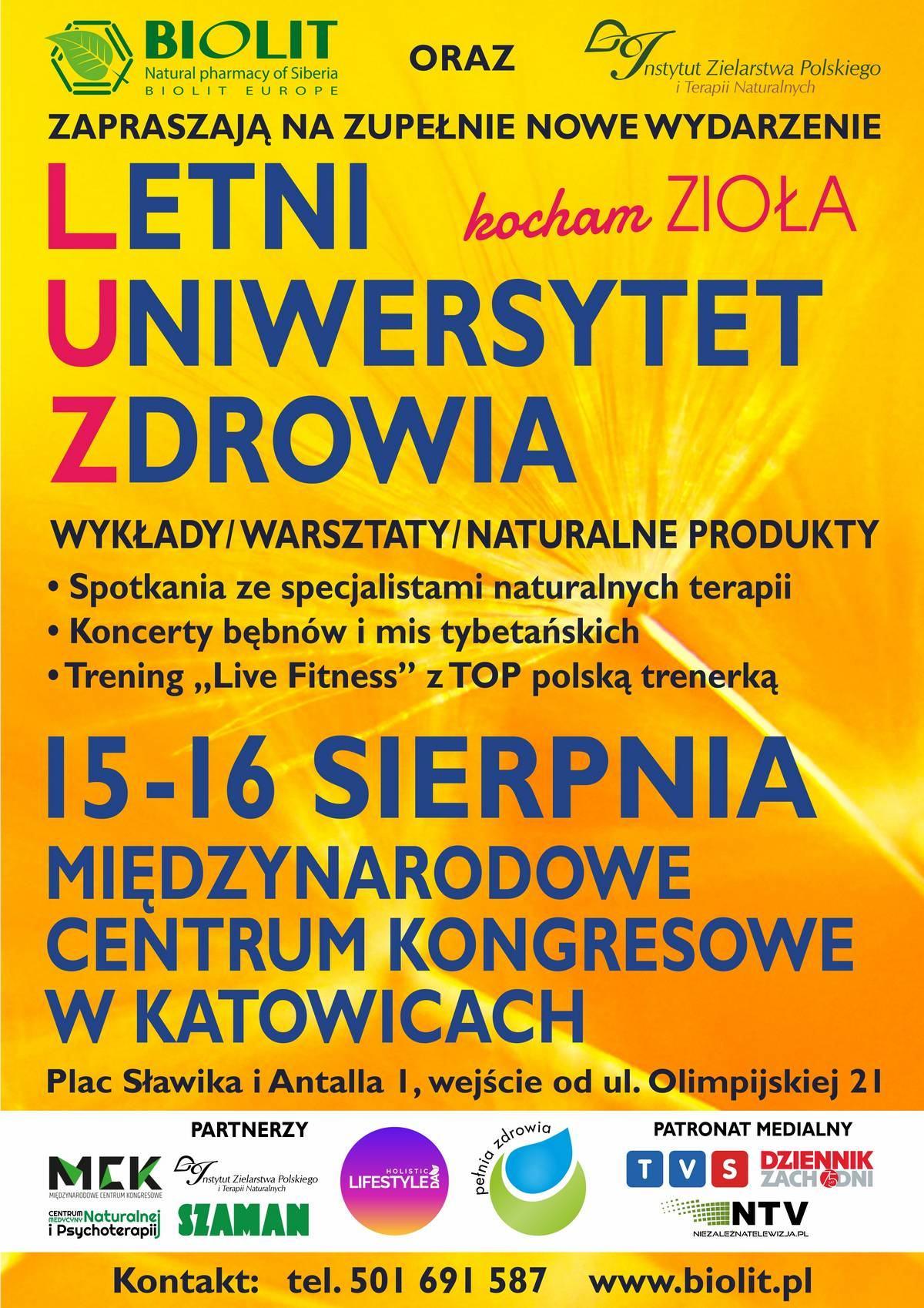 Letni Uniwersytet Zdrowia 2020 - plakat