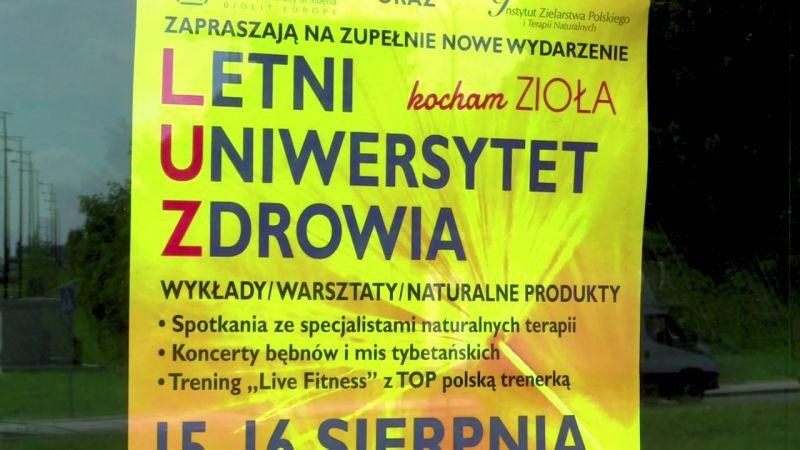 Organizator targów Letni Uniwersytet Zdrowia, mgr. Halina Jurkowska gościła w TVS. - Biolit